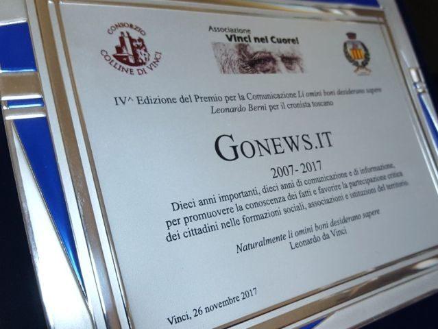 Premio 'Li omini boni', i 10 anni di gonews.it tra le grandi personalità del mondo della cultura e dell'informazione