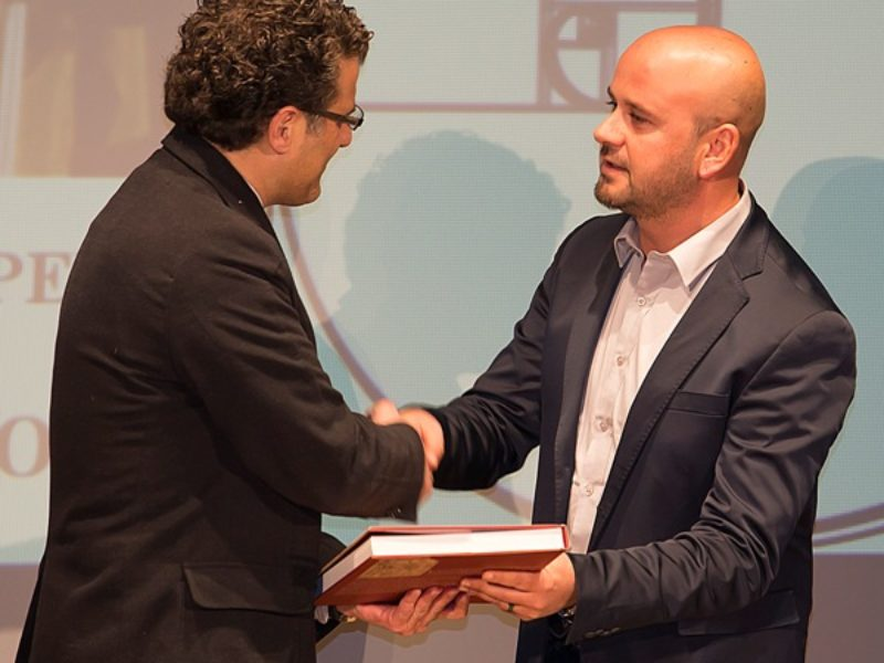 Il Sindaco di Vinci premia Emiliano Grillotti direttore di RietiLife, Premio Speciale per la comunicazione