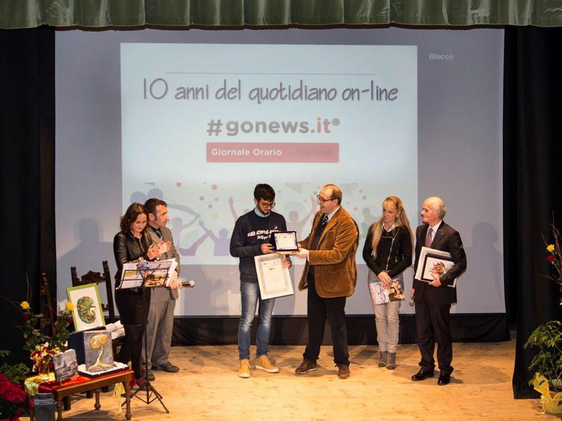 Il premio a gonews.it, ricevuto dal direttore Elia Billero