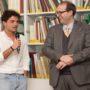 WikiPedro e il presidente di Vinci nel Cuore, Nicola Baronti. (foto: Domenico Alessi)