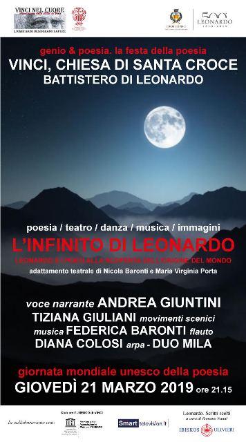 """'L'Infinito di Leonardo"""", manifesto"""