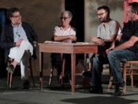 Da sinistra: Giuseppe Torchia, sindaco di VInci, Remo Borchi, Christian Santini e antonio Fanelli (foto: Roberto Messina)