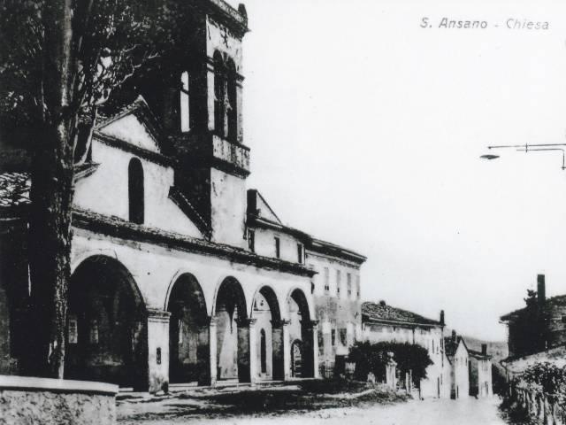 La Chiesa di Sant'Ansano nella prima metà del XX Secolo (collezione Raffaello Santini)