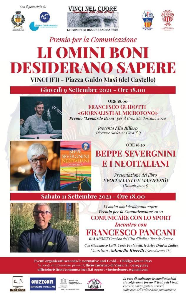 Premio 'Li omini boni' e Cronista Toscano 2020